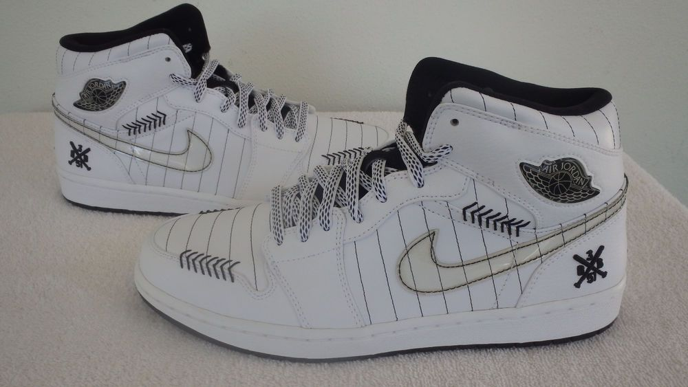 huge discount 21ad9 c3eaa Nike Air Jordan 1 Retro Barons SZ9.5 White Sox Opening Day (325514-