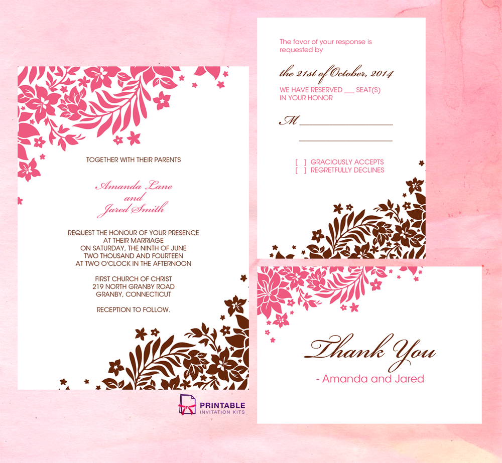 Free pdf download foliage borders invitation rsvp and thank you free pdf download foliage borders invitation rsvp and thank you cards easy to stopboris