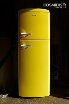 Kitchen I Just Love This Retro Mustard Yellow Fridge Freezer Sainsburys Autumndreamhome