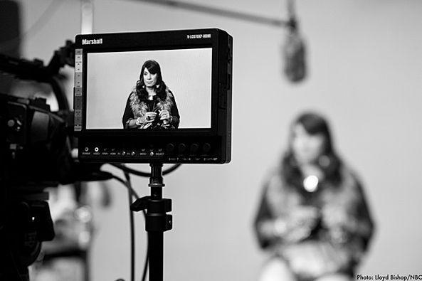 Filming Denise.