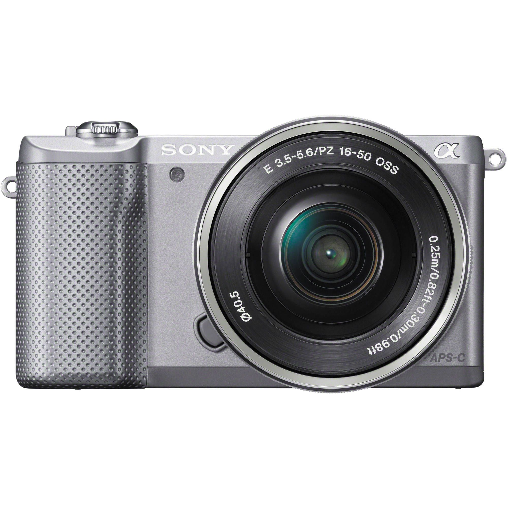 Sony Alpha a5000 Mirrorless Digital Camera with 16-50mm Lens (Silver ...