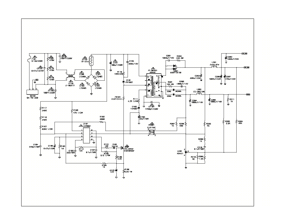 Lg Usp490m 42lp Pdp42v6 Plasma Tv Power Supply Schematic Service Manual Download Schematics Eeprom Repair Info For Electronic Electronics Power Power Supply