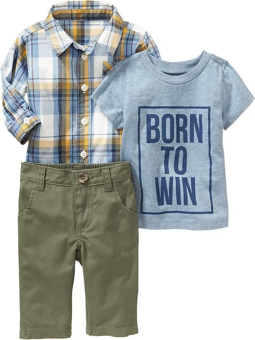 Tee, Shirt & Pants Sets for Baby