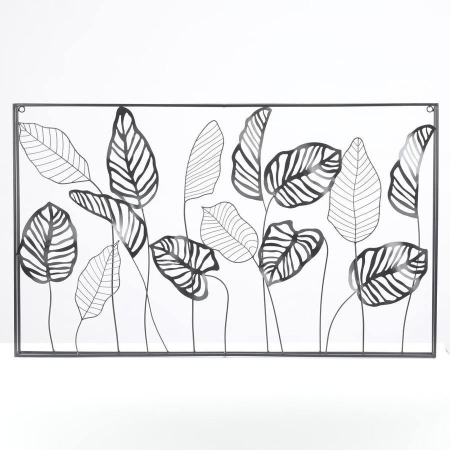Luxen Home Metal Framed Horizontal Leaf Wall Decor Lowes Com In 2021 Leaf Wall Leaf Wall Decor Leaves Wall Decor