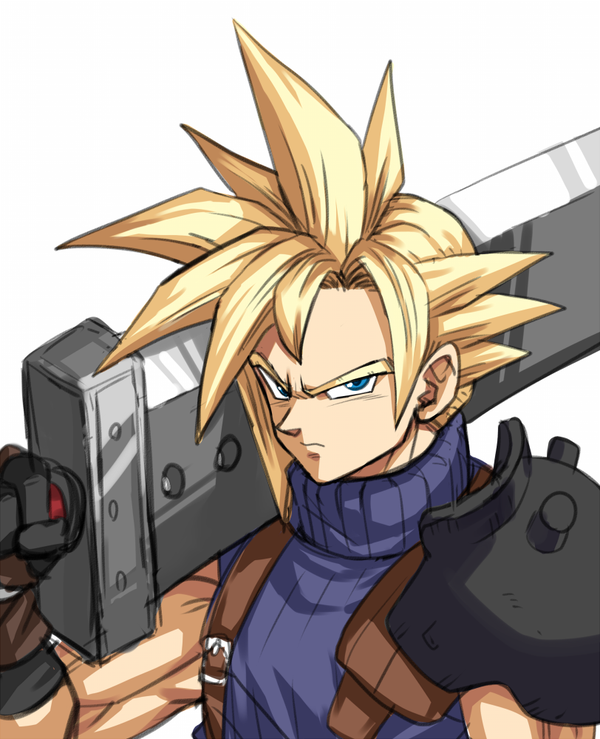 Cloud Strife in Dragon Ball Style by yapo yaponishi
