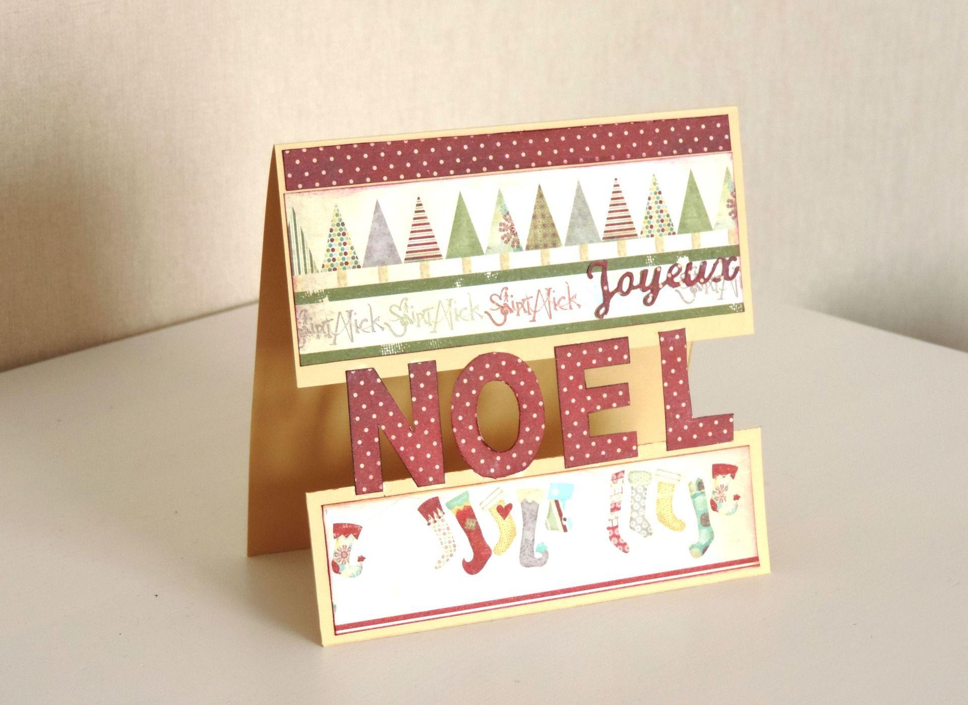 Carte postale Noël faite main esprit vintage. | Etsy | Cartes de
