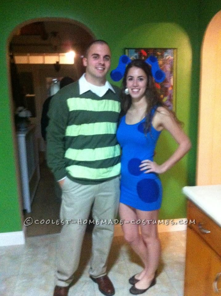 Cutest Blue\u0027s Clues Costume for a Couple Clue costume, Costumes - cute halloween ideas for couples