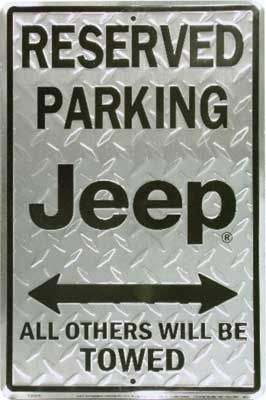All Things Jeep Reserved Parking Jeep Metal Sign Diamond Plate Silver Black Jeep Jeep Wrangler Parts Dream Cars Jeep