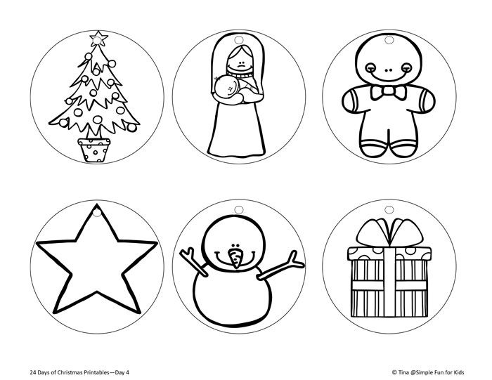 Christmas Countdown Day 4: Color Your Own Printable