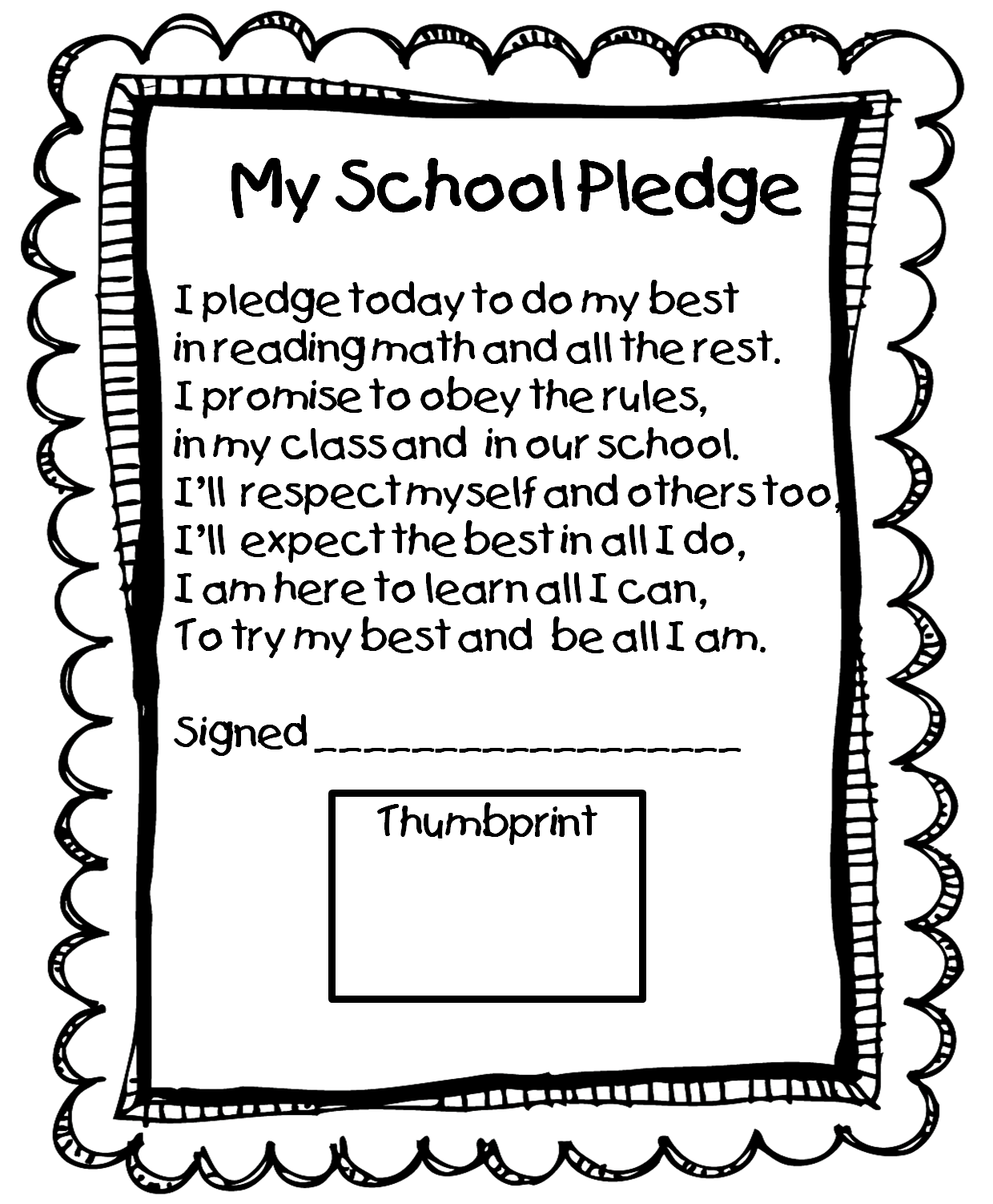 Pledge... Perfect for our school. We have our students say