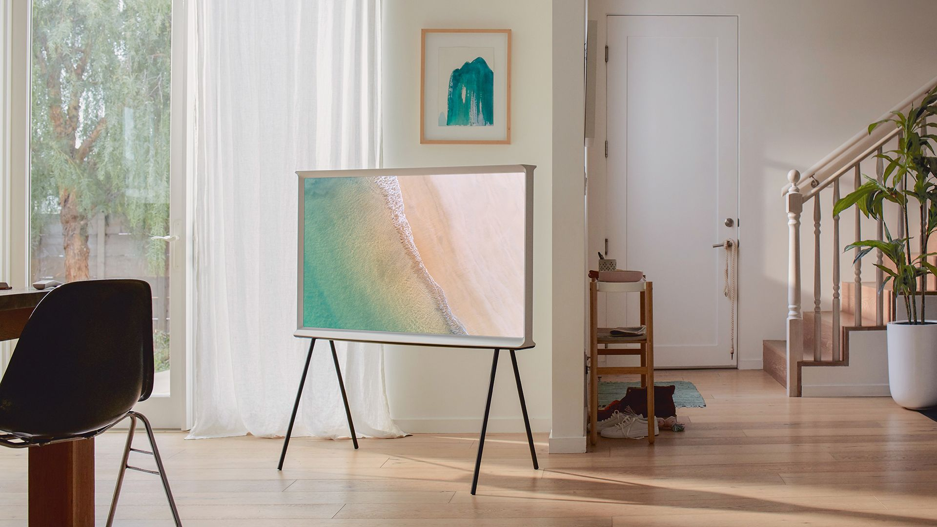 Samsung S Swanky Serif Qled Tvs Are Available In Australia From Today In 2020 Interior Design Frame Design