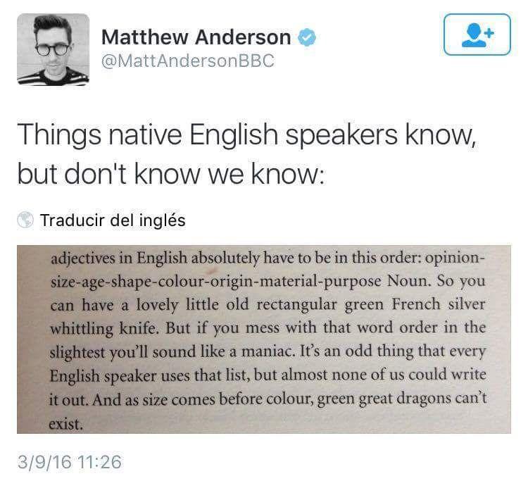 English adjectives More