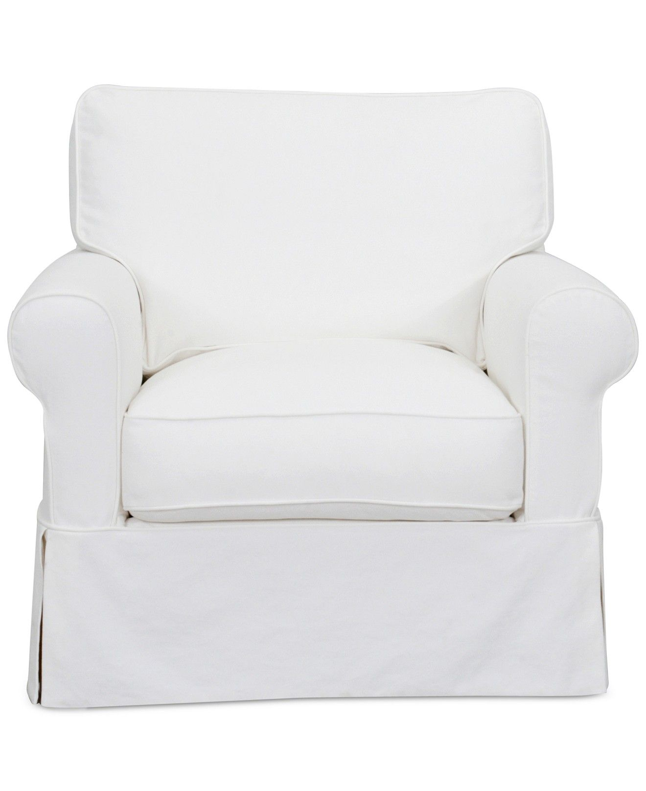 Leanne Fabric Slipcover Chair Furniture Macy s