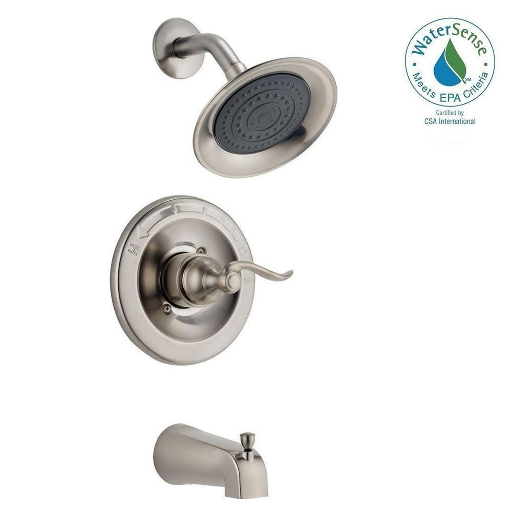 Delta Windemere Single Handle 1 Spray Tub And Shower Faucet In