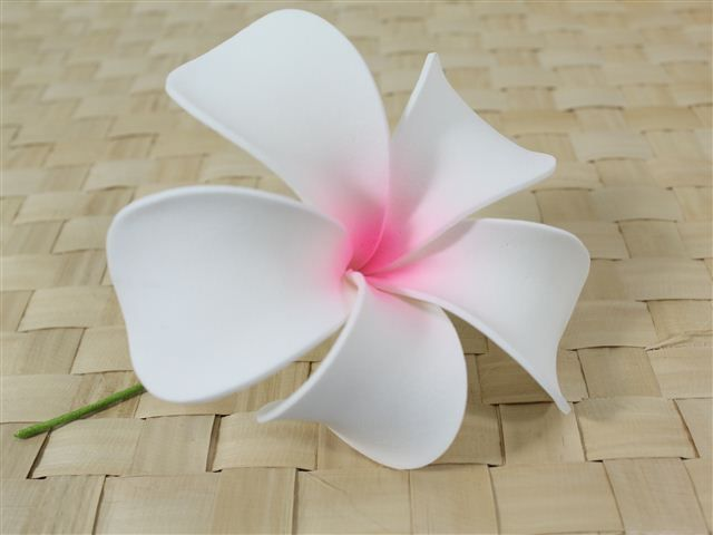 Singapore Hair Pick (Large) [White / Pink] - Hair Accessories - Hula Supply | AlohaOutlet SelectShop