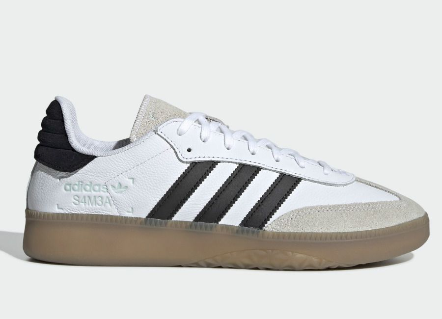 Adidas Samba RM Shoes Ftwr White Core Black Clear Mint