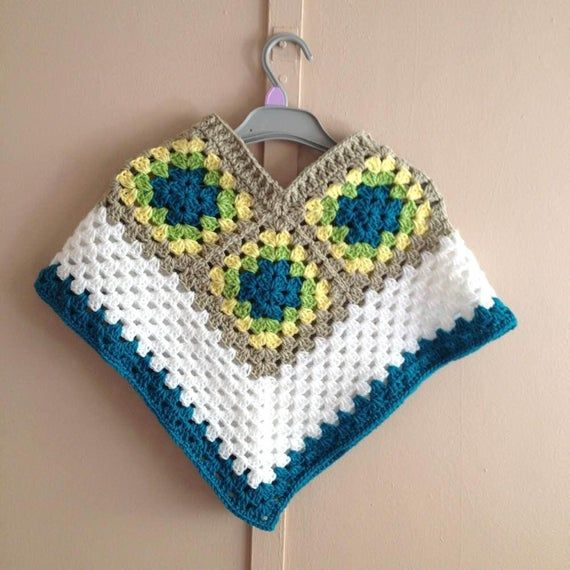 Gift for a girl, crochet Mexican poncho, girl's poncho, kid's poncho, baby poncho top, winter outfit, baby wear clothing, girl's clothing #babyponcho