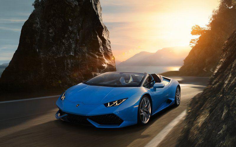 Sky Blue Lamborghini Huracan Sports Car Wallpaper Auto Da Sogno