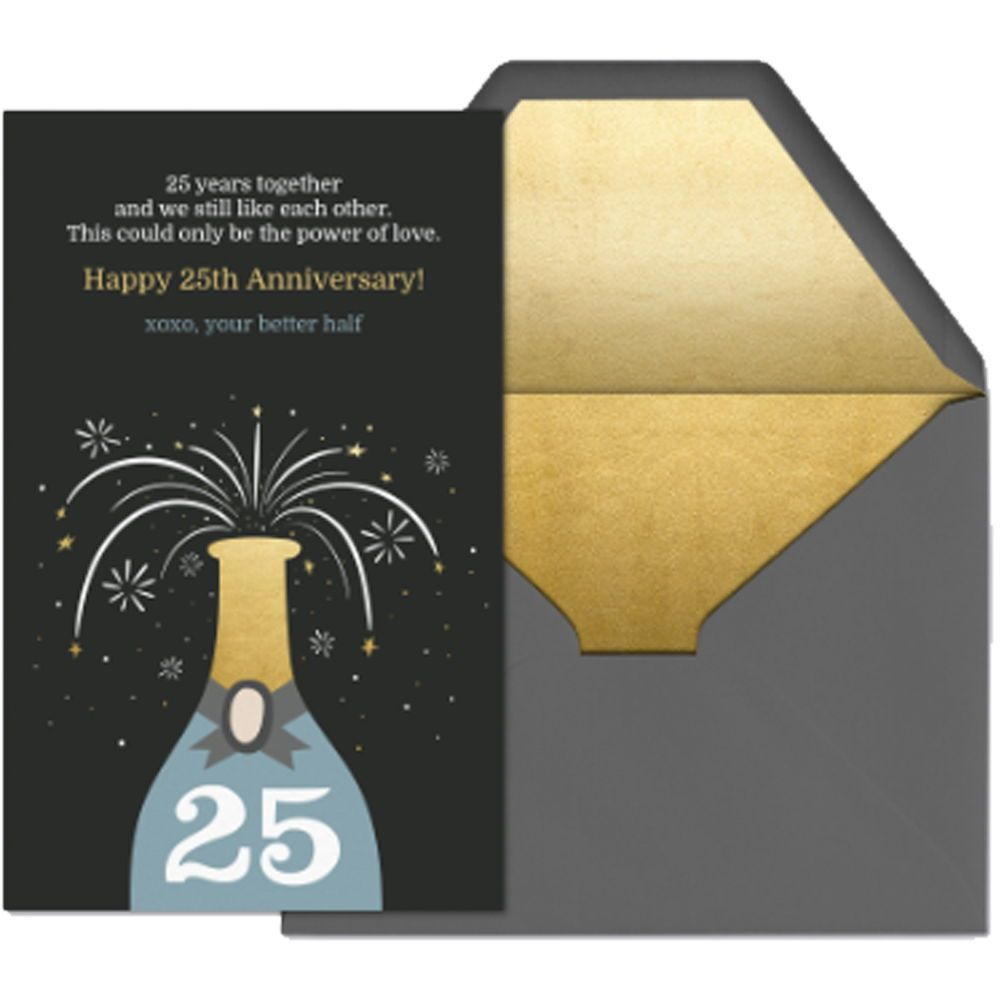Cheers To 25 Send This Premium Evite Card To Send You Well Wishes