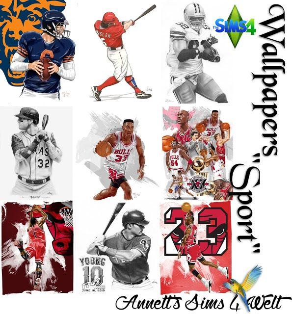 """Annett's Sims 4 Welt : Wallpapers """"Sport""""."""