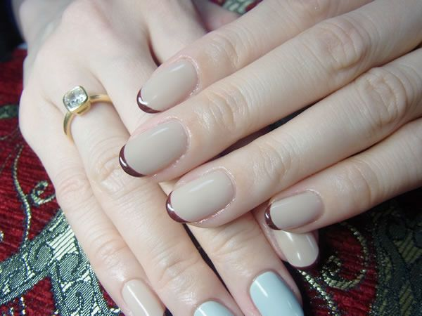 French manicure hands fetish