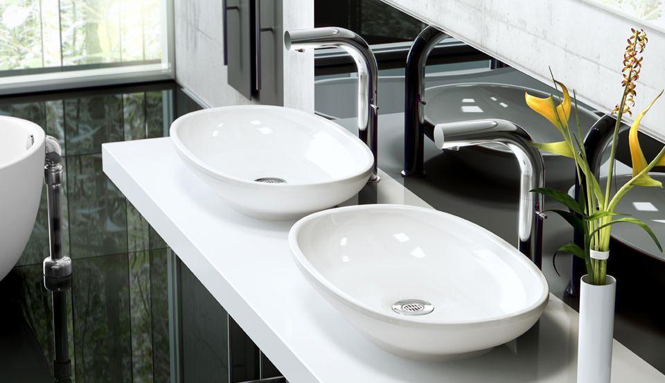 Victoria Albert Baths Contemporary Bathrooms Sink White Vessel