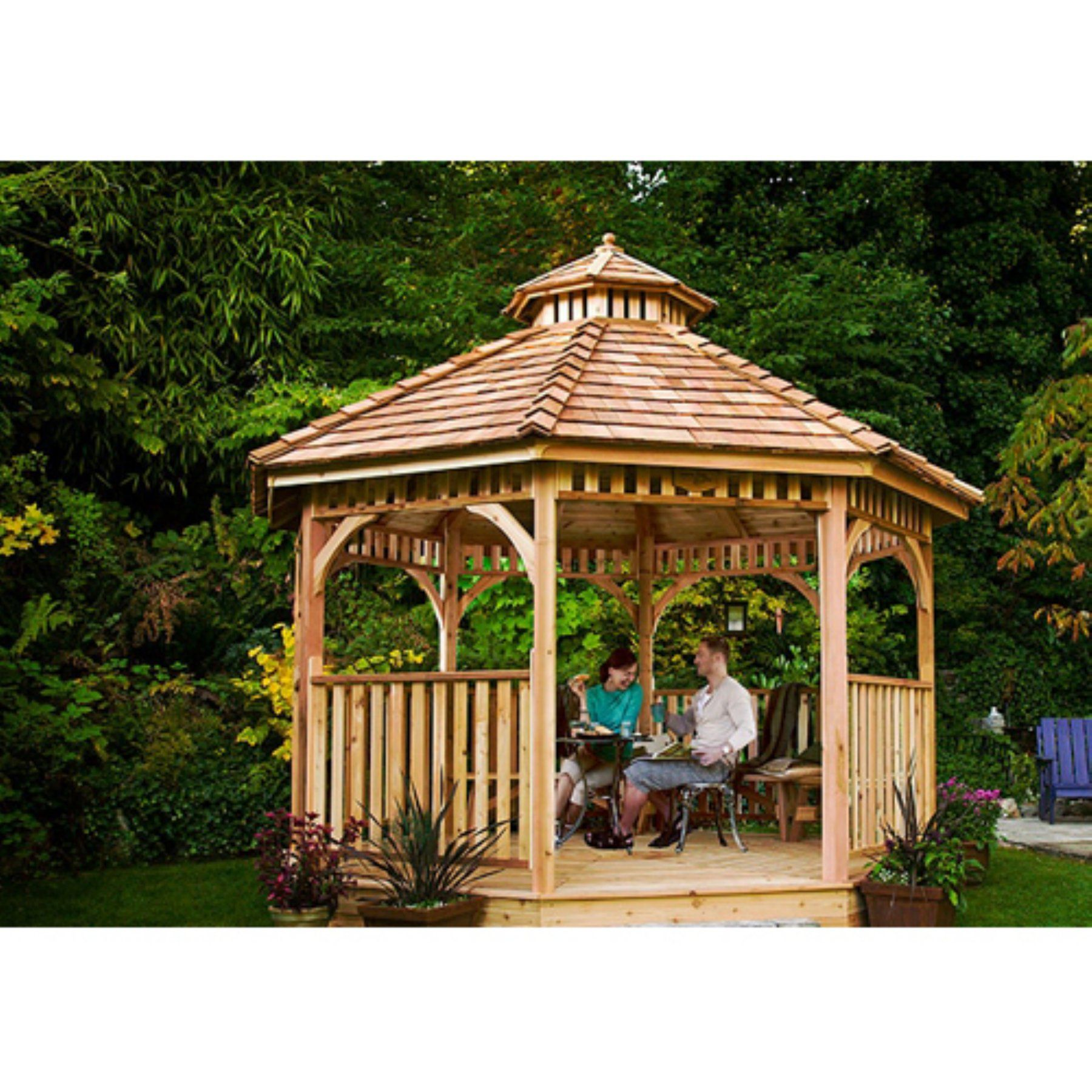 Outdoor Living Today Bayside 12 Ft Octagon Gazebo  Bayside12