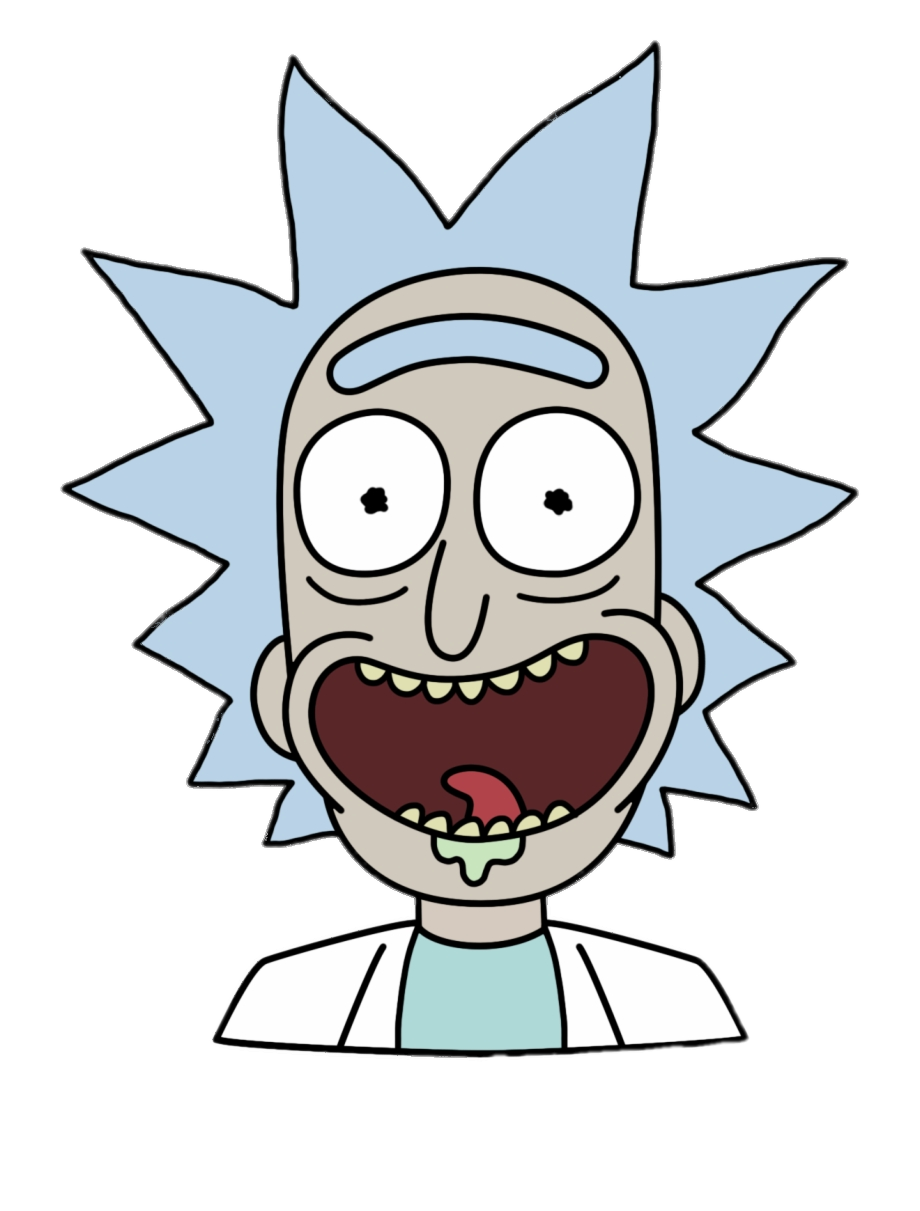 Check Out This Transparent Rick Sanchez Face Png Image Desenhos