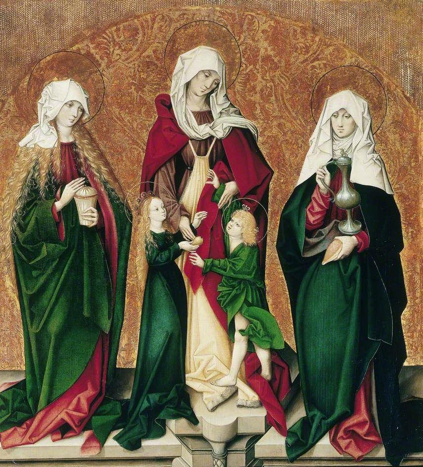 Saint Mary Magdalene, Saint Anne, the Infant Mary and Christ Child, and Saint Barbara