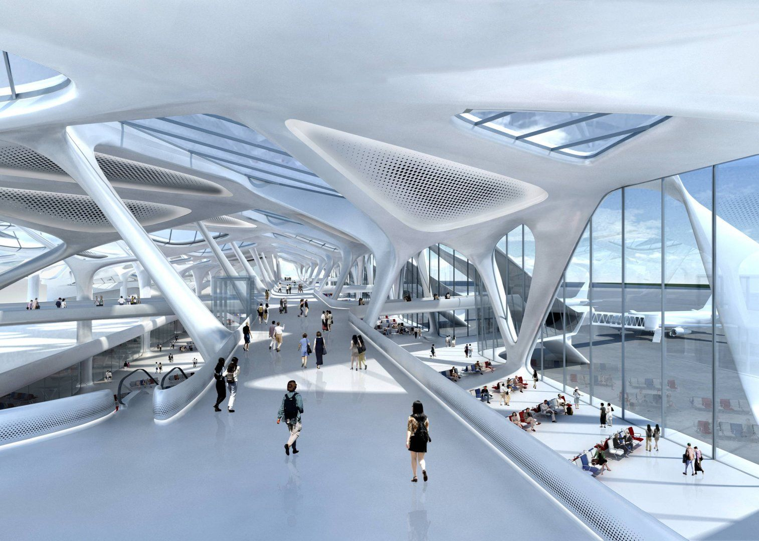 New Passenger Terminal And Masterplan Zagreb Airport Masterplans Zaha Hadid Architects Zaha Hadid Airport Design Zaha Hadid Architecture