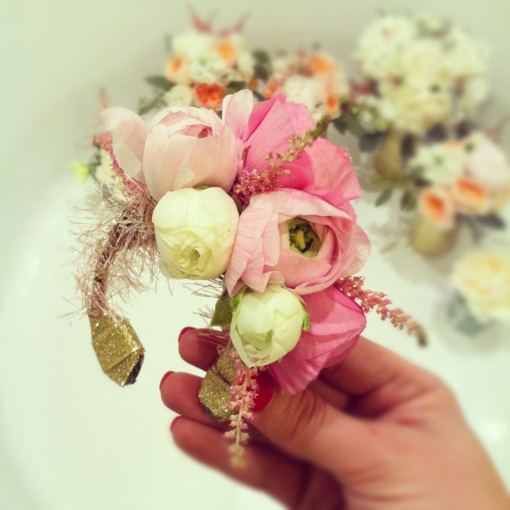Wristlets of flowers for the bridesmaids mother of the bride or wristlets of flowers for the bridesmaids mother of the bride or grandmothers a great alternative to carrying flower bouquets izmirmasajfo