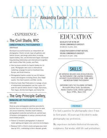 Resume Template New Yorker Blue Loft Resumes Good Resume Examples Resume Design Resume Examples