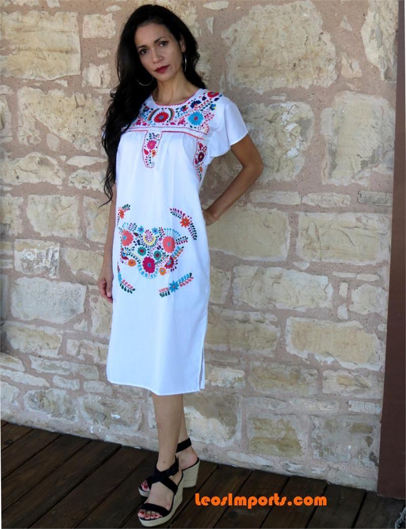 91f56cfd2 Leos Mexican Imports   Art Inspiration   Dresses, Mexican dresses ...
