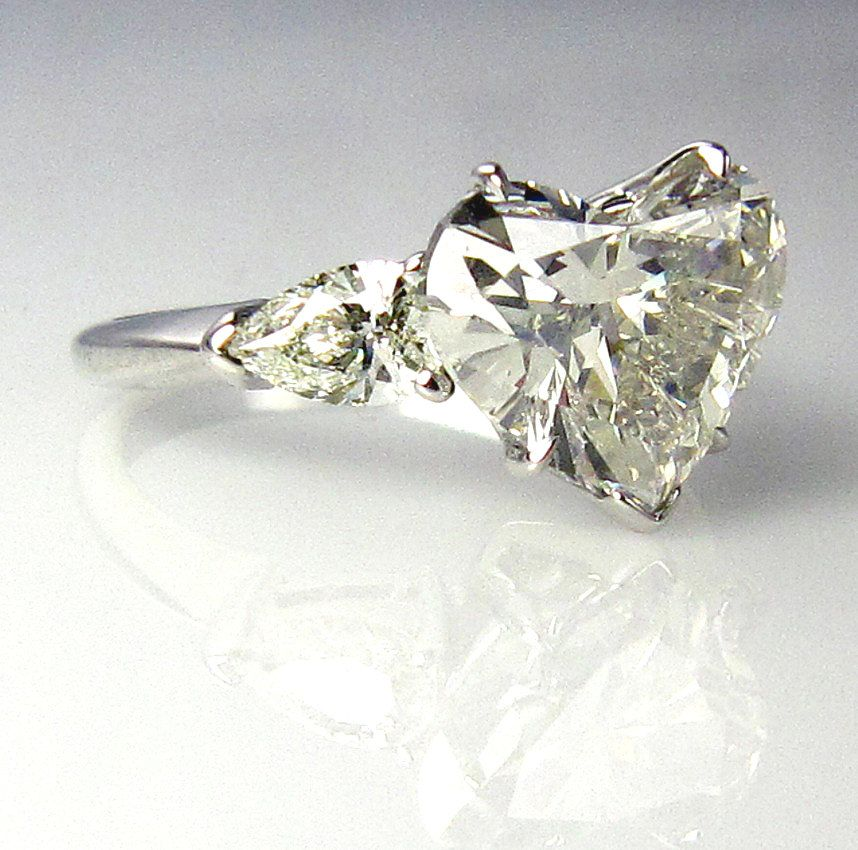 Whoa This Is Like A Dream Ring Love The Heart Shaped Diamond Insane Rare Estate Vintage 3 70ct Shape Stone Engagement Wedding