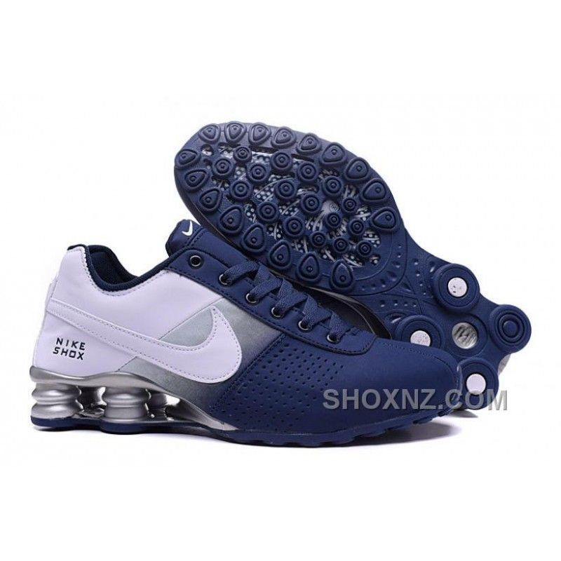 NIKE SHOX DELIVER 809 NAVY BLUE WHITE