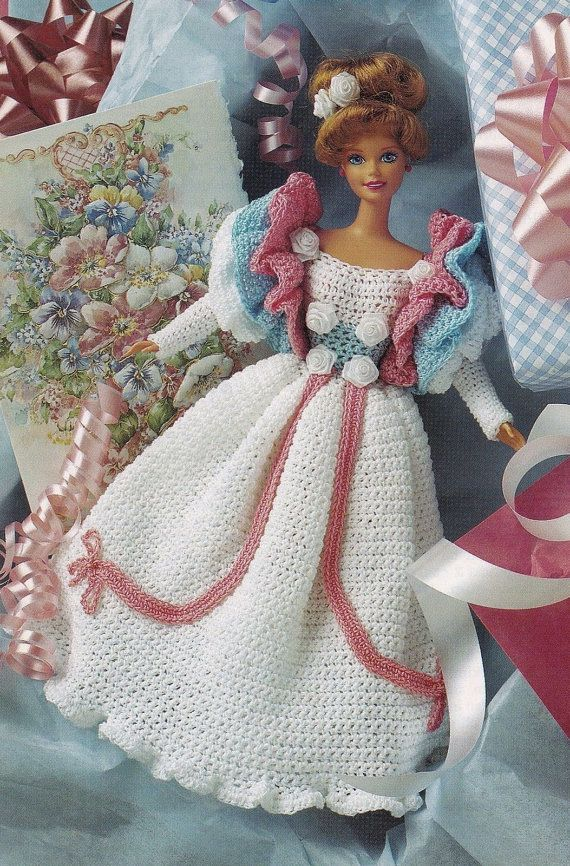 Gay 90\'s Gown, Fashion Doll Clothes Crochet Pattern Pages BYOB Build ...