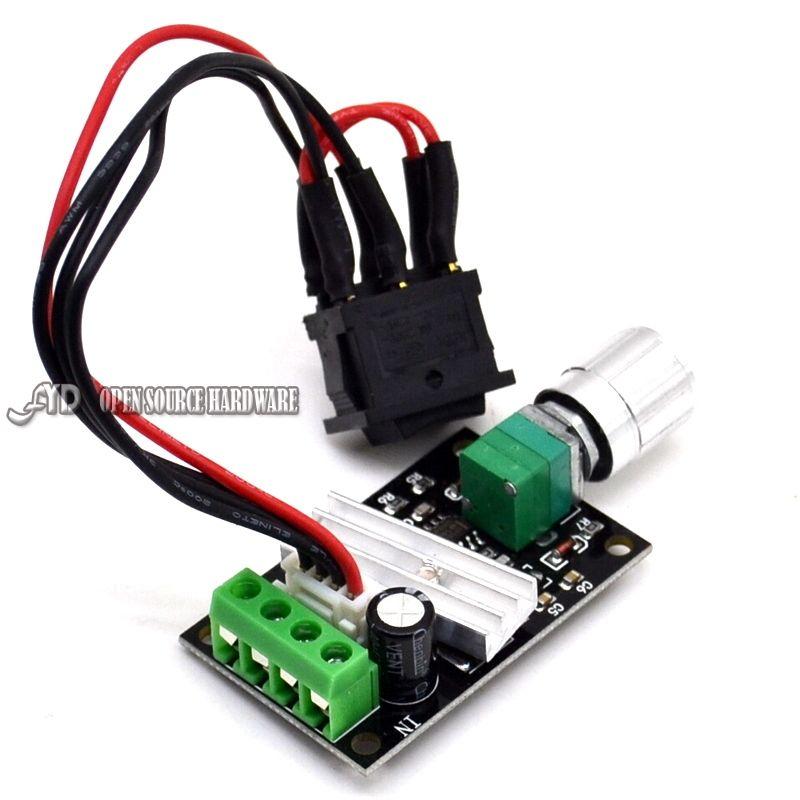 PWM DC motor speed regulator 6V 12V 24V 3A speed switch reverse ...