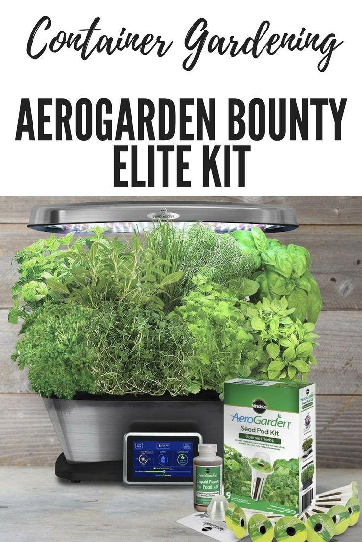 AeroGarden Bounty Elite Kit Indoor vegetable gardening