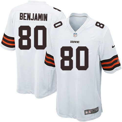 youth nike cleveland browns 80 travis benjamin limited white nfl jersey sale