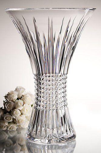 Waterford Lismore Diamond 8 Vase By Waterford 200 00 The Lismore Diamond Pattern Is A Strikingly Modern R Crystal Vase Crystal Glassware Waterford Crystal
