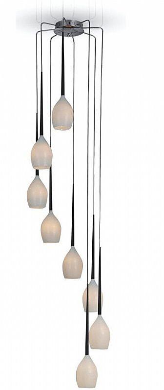 Teardrop Glass Filament 7 Cord Chandelier