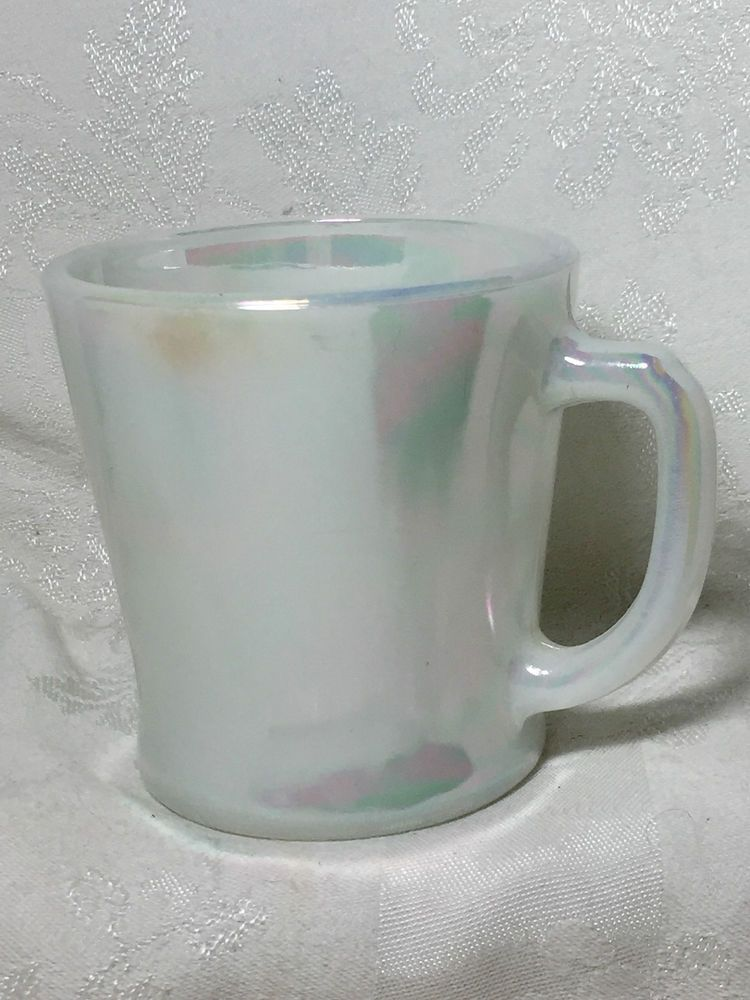 Fire King Pearl Lustre D Handle Mug Anchor Hocking  USA