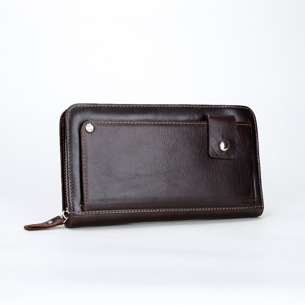 (66.27$)  Watch more here - http://aixuh.worlditems.win/all/product.php?id=32784065716 - free shipping new fashion brand men's wallet male clutches cards money phone coins holder 100% genuine cowhide leather wholesale