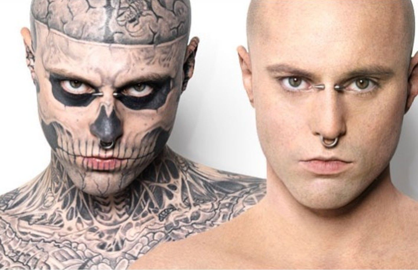 2018 Rick Genest 32 Model Actor And Artist Otherwise Known As Zombie Boy Because Of His Striking Tattooed Rick Genest Tattoo Makeup Coverup Boy Tattoos