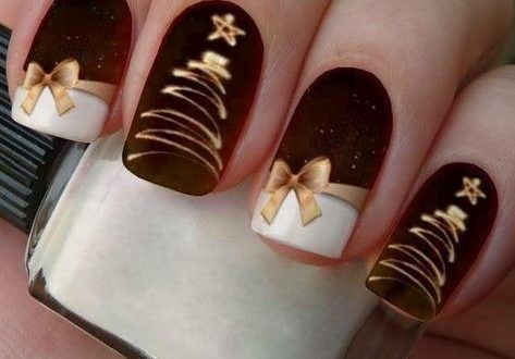 Photo of 46 Best Nail Designs Images on Pinterest | Christmas nails, winter… | Nagellac… – Christmas decorations 2019
