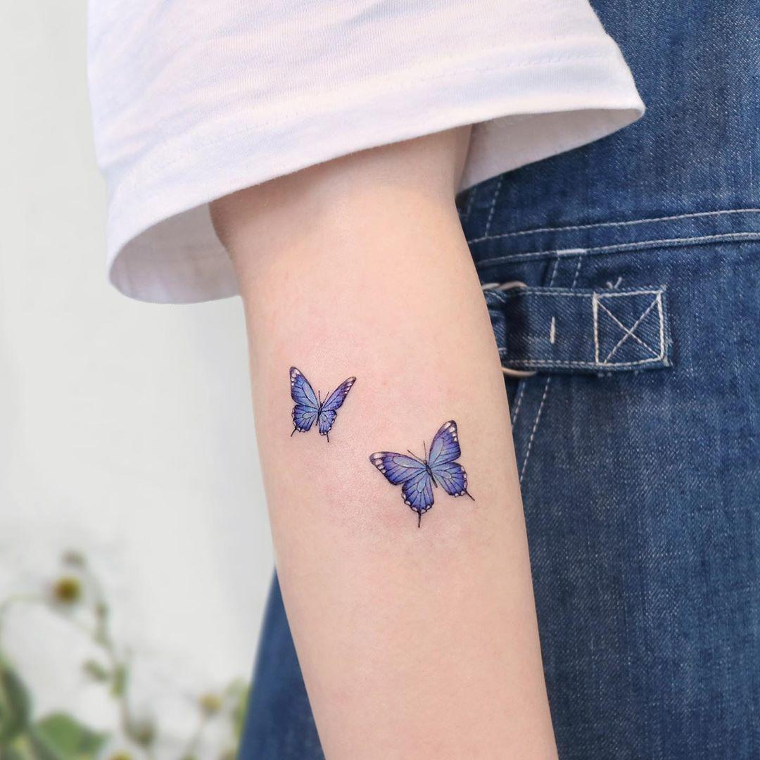 ʙᴜᴛᴛᴇʀғʟɪᴇs 🦋 ㅤ #타투 #타투도안 #나비타투 #컬러타투 #팔타투 #미니타투 #tattoo #tattooed #koreatattoo #koreantattoo #minit