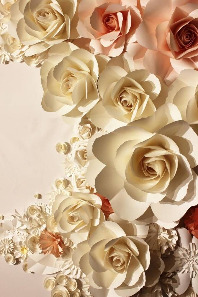 Фотообои 3д розы, арт: 27952 | Фотообои, Бумажные розы, Обои
