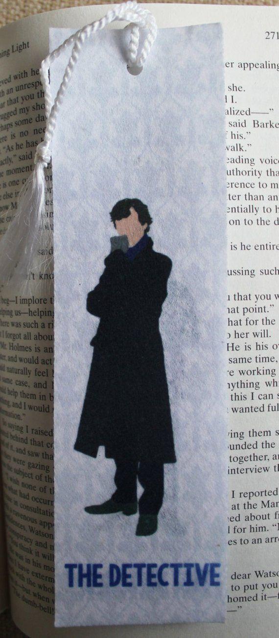 Sherlock Detective & Blogger Felt 2×7″ Tasseled Bookmark