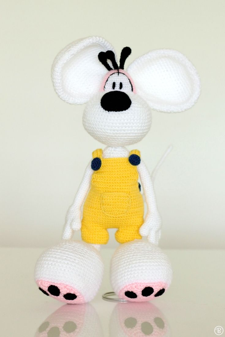 Diddl Amigurumi Pattern Figurine Croset Pinterest Crochet