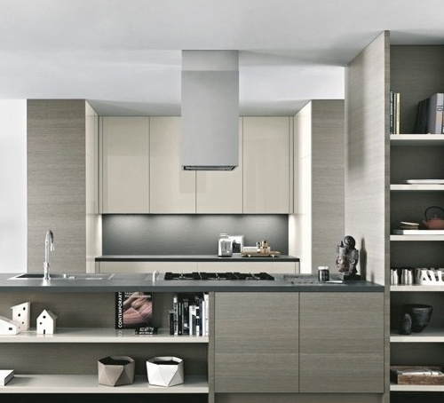 "Modern Kitchen Hoods island range hood 16"" loft 